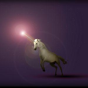 Preview wallpaper unicorn, art, starry sky, fantasy