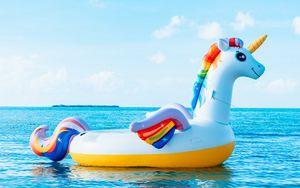 Preview wallpaper unicorn, sea, vacation
