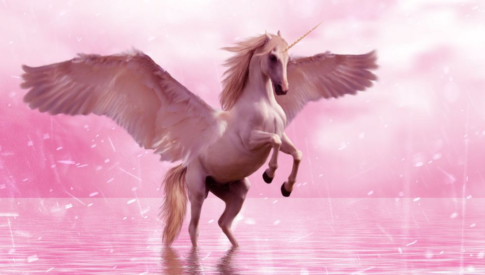 960x544 Wallpaper unicorn, wings, horse, fantasy
