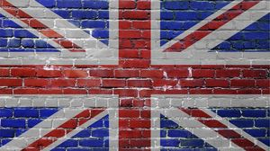 Preview wallpaper united kingdom, uk, bricks, flag