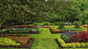 Preview wallpaper united states, longwood, kennett square, lawn, garden, bushes, grass