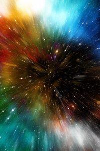 Preview wallpaper universe, galaxy, multicolored, immersion