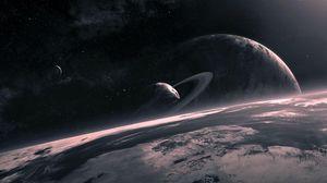 Preview wallpaper universe, planet, circle, star