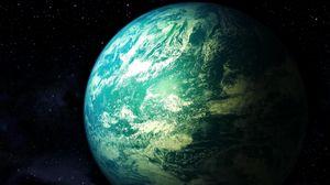Preview wallpaper universe, planet, stars, light