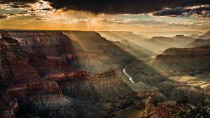 Preview wallpaper usa, canyon, mountain, top view