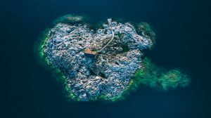 Preview wallpaper uto, sweden, island, top view
