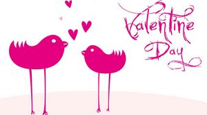 Preview wallpaper valentines day, inscription, birdies, hearts, love, white background