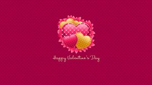 Preview wallpaper valentines day, inscription, congratulation, hearts, pink background