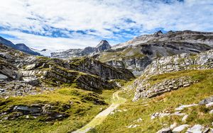 Preview wallpaper valley, mountains, landform, landscape, nature