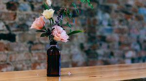 Preview wallpaper vase, bottle, flowers