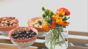 Preview wallpaper vase, bouquet, flowers