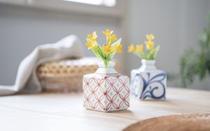 Preview wallpaper vase, flowers, decor, aesthetics