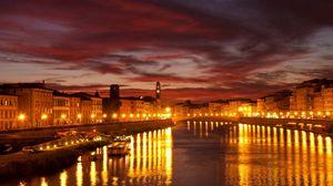 Preview wallpaper venice, canal, city, bridge, city lights