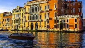 Preview wallpaper venice, canal, italy, boat