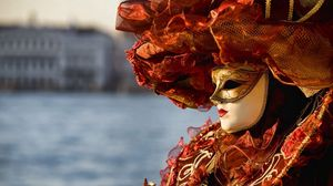 Preview wallpaper venice, carnival, mask, outfit