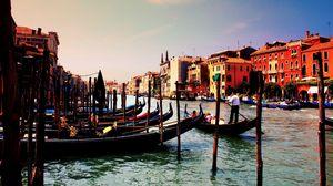 Preview wallpaper venice, italy, gondola, river