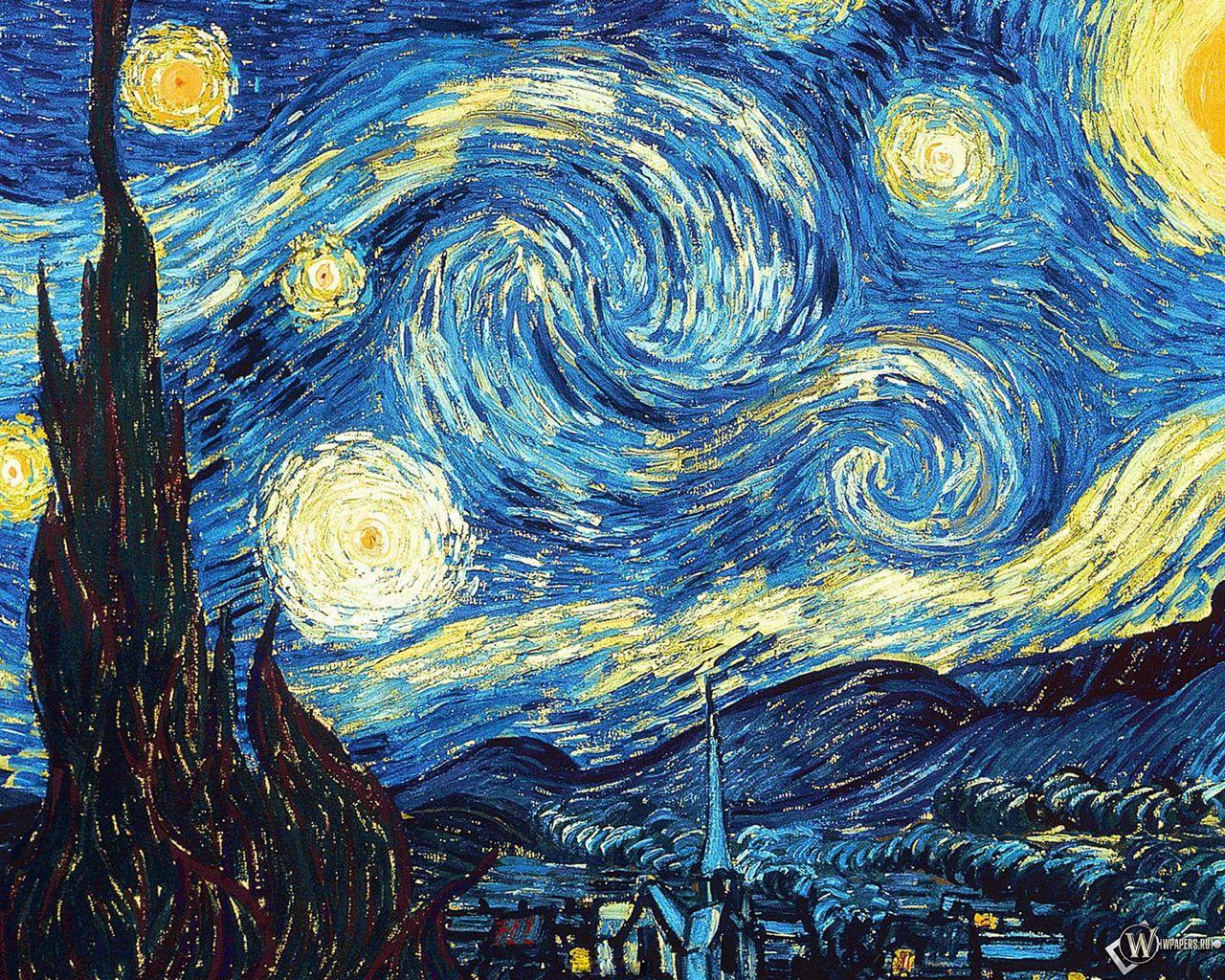 1280x1024 Wallpaper vincent van gogh, the starry night, oil, canvas
