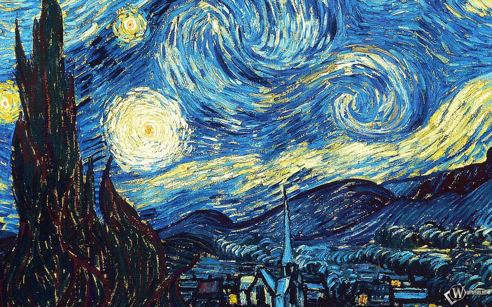 1680x1050 Wallpaper vincent van gogh, the starry night, oil, canvas