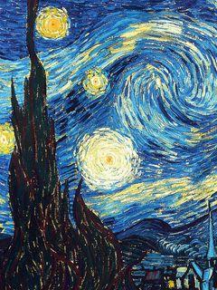 240x320 Wallpaper vincent van gogh, the starry night, oil, canvas