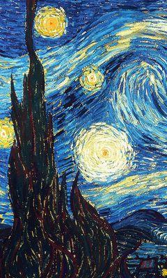 240x400 Wallpaper vincent van gogh, the starry night, oil, canvas