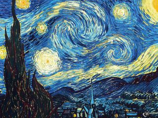 320x240 Wallpaper vincent van gogh, the starry night, oil, canvas