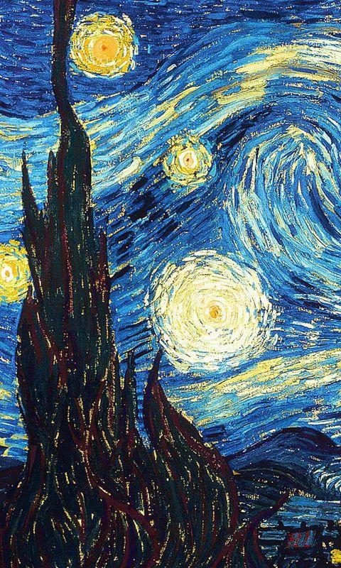 480x800 Wallpaper vincent van gogh, the starry night, oil, canvas