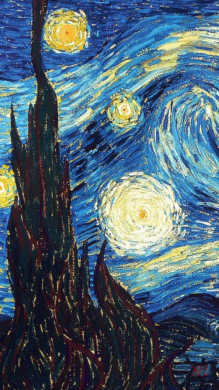 720x1280 Wallpaper vincent van gogh, the starry night, oil, canvas