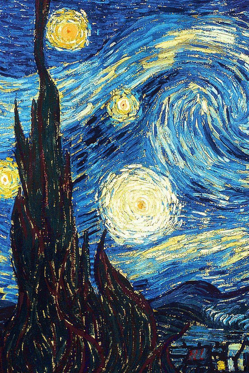 800x1200 Wallpaper vincent van gogh, the starry night, oil, canvas
