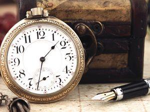 Preview wallpaper vintage, clock, dial, box, pen, necklace, keychain