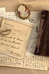 Preview wallpaper vintage, notebook, locket, perfume, writing, retro