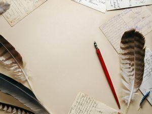 Preview wallpaper vintage, pens, writing, paper