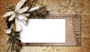 Preview wallpaper vintage, retro, dried flower, petals, paper