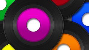 Preview wallpaper vinyl, record, music, vector, heap