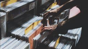 Preview wallpaper vinyl, records, hands, music