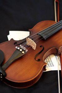 Preview wallpaper violin, musical instrument, sheet music, music