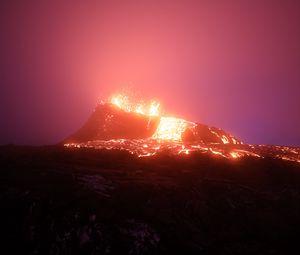 Preview wallpaper volcano, eruption, lava, hot