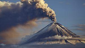 Preview wallpaper volcano, eruption, smoke