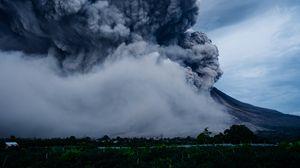 Preview wallpaper volcano, explosion, eruption