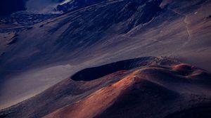Preview wallpaper volcano, hill, desert, haleakala, united states