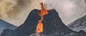 Preview wallpaper volcano, lava, eruption, hot