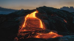 Preview wallpaper volcano, lava, fiery, melting