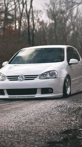 Preview wallpaper volkswagen, golf, gti, tuning, white