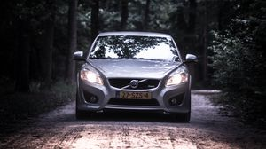Preview wallpaper volvo, car, front view, road