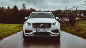 Preview wallpaper volvo, car, suv, front view, white
