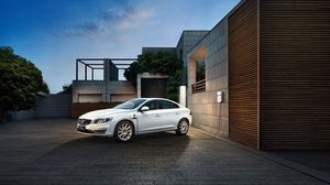 Preview wallpaper volvo, s60, white, side view