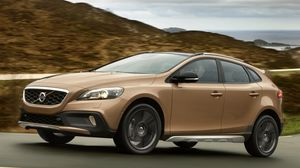 Preview wallpaper volvo, v40, cross country, brown
