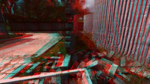 Preview wallpaper wall, 3d, anaglyph, graphics, red