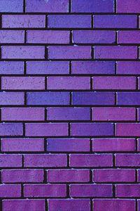 Preview wallpaper wall, brick, purple, texture