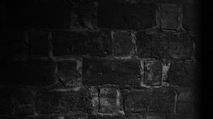 Preview wallpaper wall, brick, texture, shadow, black and white