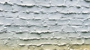 Preview wallpaper wall, brick, white, texture, surface